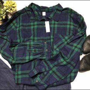 NWT Plaid Flannel Top